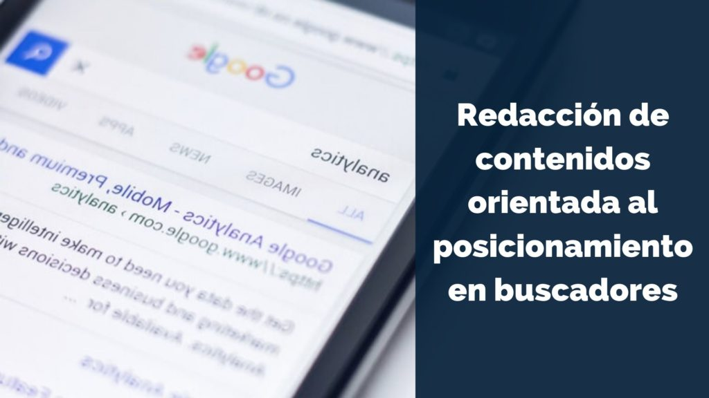 Redacción de contenidos orientada al posicionamiento en buscadores 2