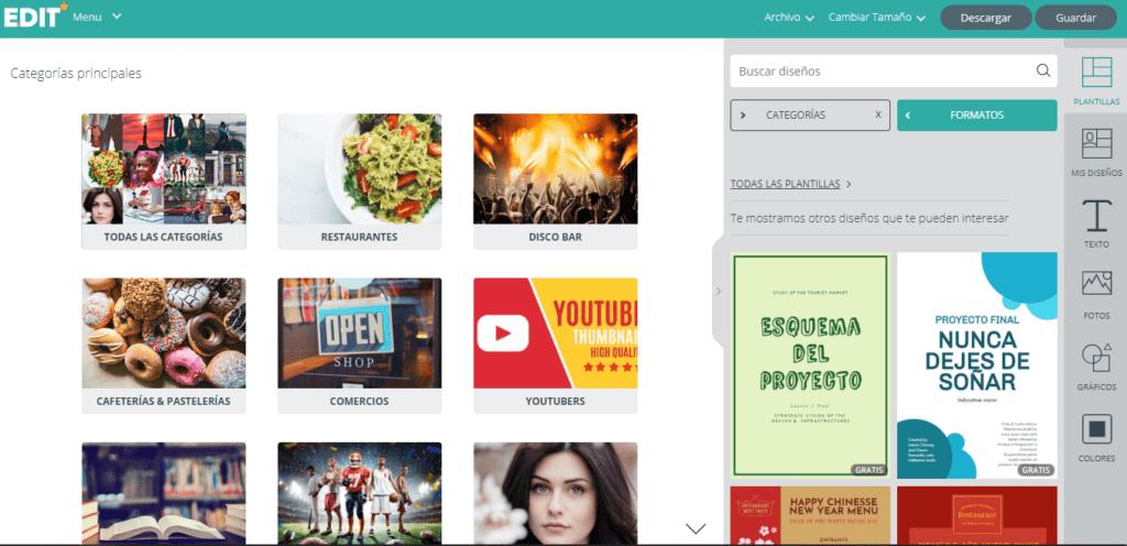 Edit.org; el programa online de diseño gráfico para restaurantes. 4