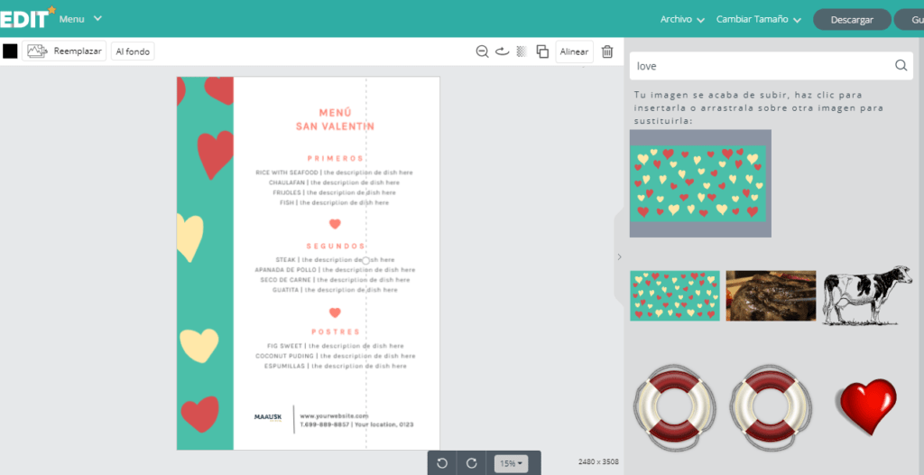 Edit.org; el programa online de diseño gráfico para restaurantes. 16