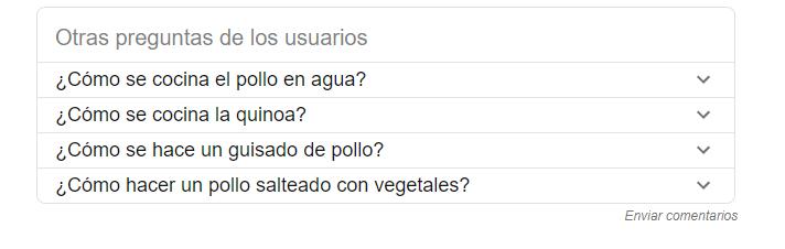 Preguntas en google
